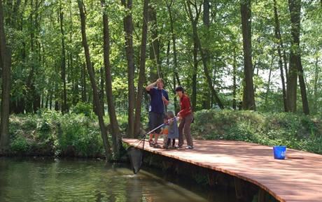 Aktivní rybolov pro děti a dospělé.