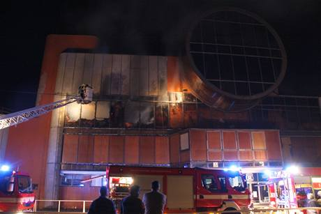 Požár diskotéky ve Slušovicích (28.8.2009)