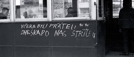 21. srpen 1968 v Brně - náměstí Svobody