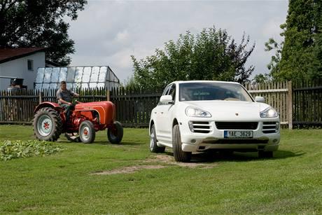 Traktor Porsche Diesel Standard a Porsche Cayenne Diesel