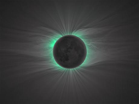 Nové fotky sluneční koróny jsou staré asi deset dní. Je na nich vidět slabá sluneční aktivita.