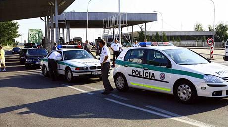 Slovensko odepřelo maďarskému prezidentovi Sólyomovi vstup na své území. Policie byla na hranicích v pohotovosti (21. srpna 2009)