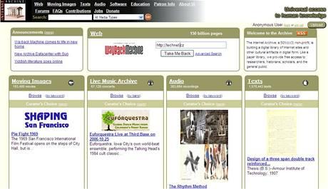 Internetový archiv archive.org I.
