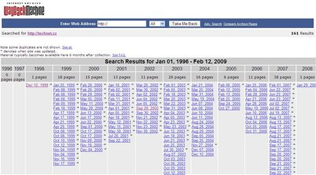Internetový archiv archive.org II.