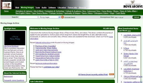 Internetový archiv archive.org IV.