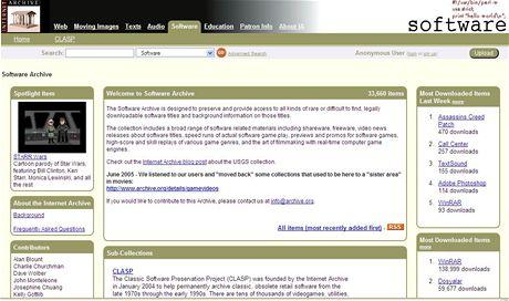 Internetový archiv archive.org V.