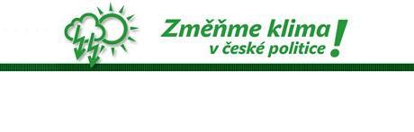 Nové logo ke spuštěné kampani Zelených - Změňme klima