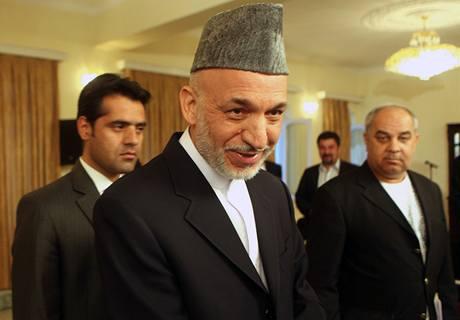 Současný prezident Hamíd Karzáí (25. srpna 2009)