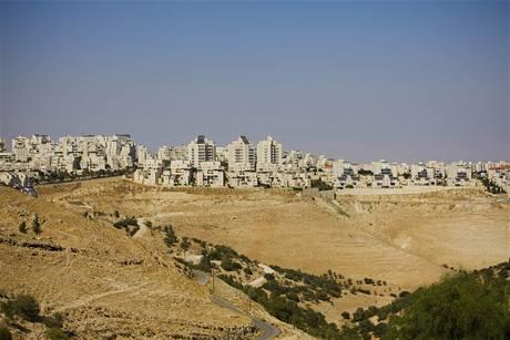 Izraelská osada Maaleh Adumim na Západním břehu Jordánu