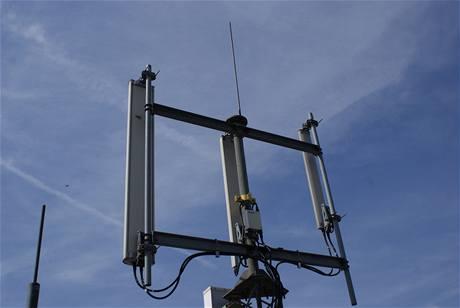 Antény GSM a UMTS sítě operátora O2