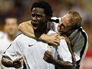 Sparta: Wilfried (vlevo) a Hubník se radují z gólu