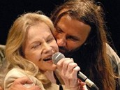 Eva Pilarová a Martin Věchet na trutnovském festivalu 2006.