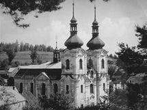 Skoky v roce 1950 (repro podle webu Zanikleobce.cz)