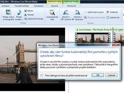 Automatický film - funkce, která slibuje vytvořit snímek za minutu. Vše můžete později upravit.