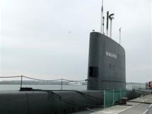 N�mecko, Sassnitz. vy�azen� britsk� ponorka OTUS je dlouh� 90 metr�