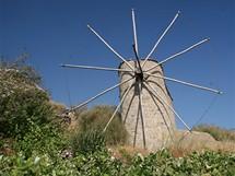 Řecko, Kréta. Kamenný mlýn na náhorní plošině