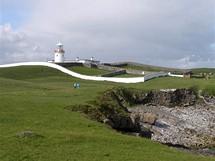 Irsko, maják v Donegalu