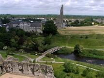 Irsko, výhled z hradu Trim