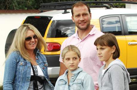 Jiří Šlégr s rodinou