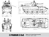Pandur II 8x8 - schema