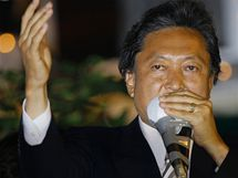 Předseda Demokratické strany Japonska Jukio Hatojama.