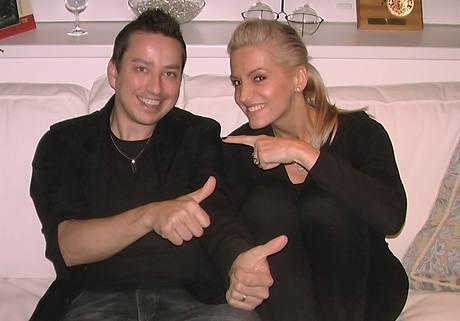 Petr Bende a Dara Rolins při natáčení singlu Tráva