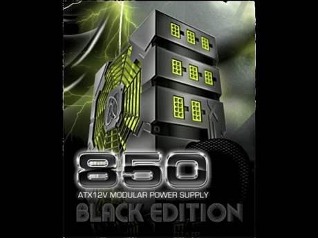 XFX 850W Black Edition ATX 2.3 - reklamní plakát