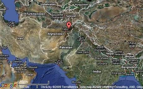 Mapa Afghánistánu