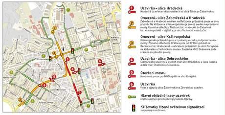 Velký městský okruh - dopravní omezení v září 2009.