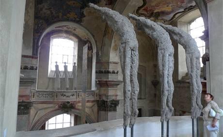 Severočeská galerie výtvarného umění v Litoměřicích; Olbram Zoubek: Z tohoto a druhého břehu, 1991-1992, osinkocement