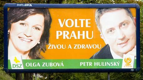 Billboardy před volbami 2009.