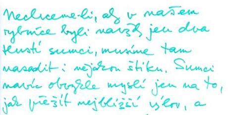 Dopis Václava Havla, který zazněl při zahájení předvolební kampaně Strany zelených