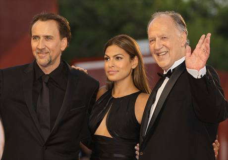Nicolas Cage, Eva Mendes, Werner Herzog (Benátky 2009)