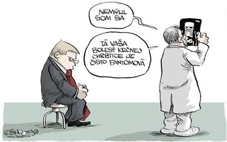 Karikatura, která pobouřila slovenského premiéra Fica