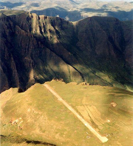 Přistávací dráha Matekane, Lesotho, Afrika