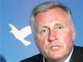 Předseda ODS Mirek Topolánek na tiskové konferenci po návratu z dovolené. (31. července 2009)