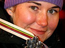 Šárka Záhrobská se stříbrnou medailí z MS 2009