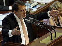 Jiří Paroubek na poslední schůzi Sněmovny (8. září 2009)