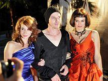 Premiéra filmu Jánošík, Bratislava 4. září 2009 (zleva slovenská herečka Táňa Pauhofová, český herec Václav Jiráček a americká herečka Sarah Zoe Cannerová)