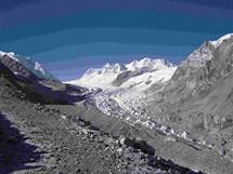 Expedice Sulovského na Cho Oyu. Sedlo Nagpala rozděluje Čínu od Nepálu - 5800 m