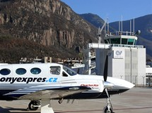 Letiště v Bolzanu, Itálie