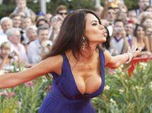 Herečka Maria Grazia Cucinotta  na premiéře filmu Baaria
