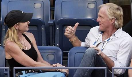 Chris Evertová s manželem golfistou Gregem Normanem