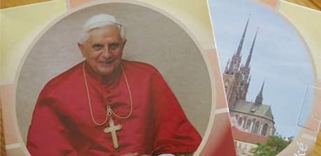 Lázeňské oplatky s portrétem papeže Benedikta XVI.
