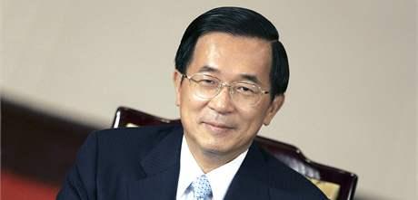 Čchen Šuej-pien v roce 2006 ještě jako prezident Tchajwanu.