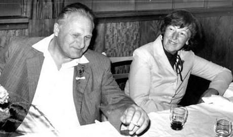 Dušan Slávik s doktorkou Konečnou, 70. léta
