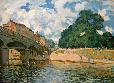 Z výstavy v Albertině: Alfred Sisley