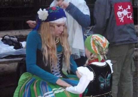 z fotografování kalendáře Celé Česko čte dětem 2010 (Kateřina Neumannová)