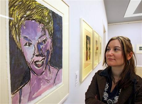 Z výstavy obrazů Boba Dylana v Chemnitz (2007)