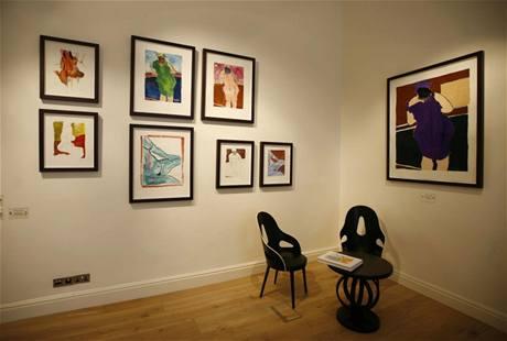 Z výstavy obrazů Boba Dylana v Londýně (2008)